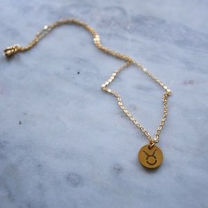 Taurus Astrology Gold Necklace